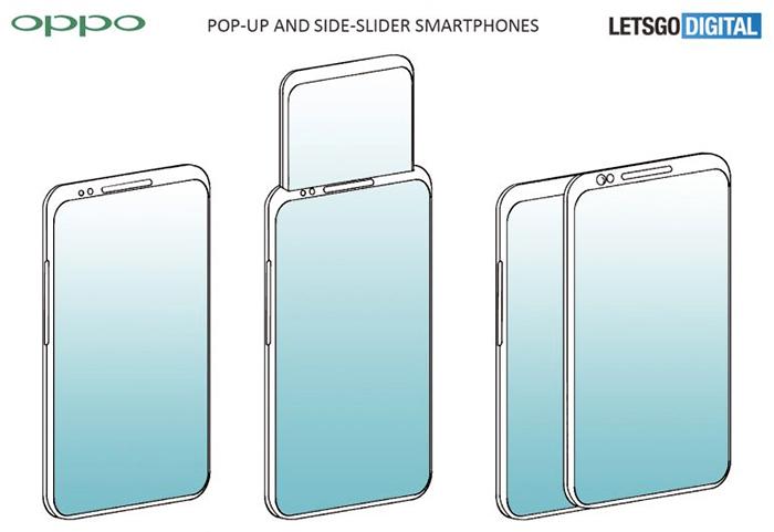 oppo pop-up and side-slider smartphones