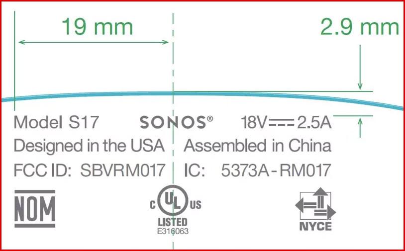 Sonos Portable Speaker Dimensions